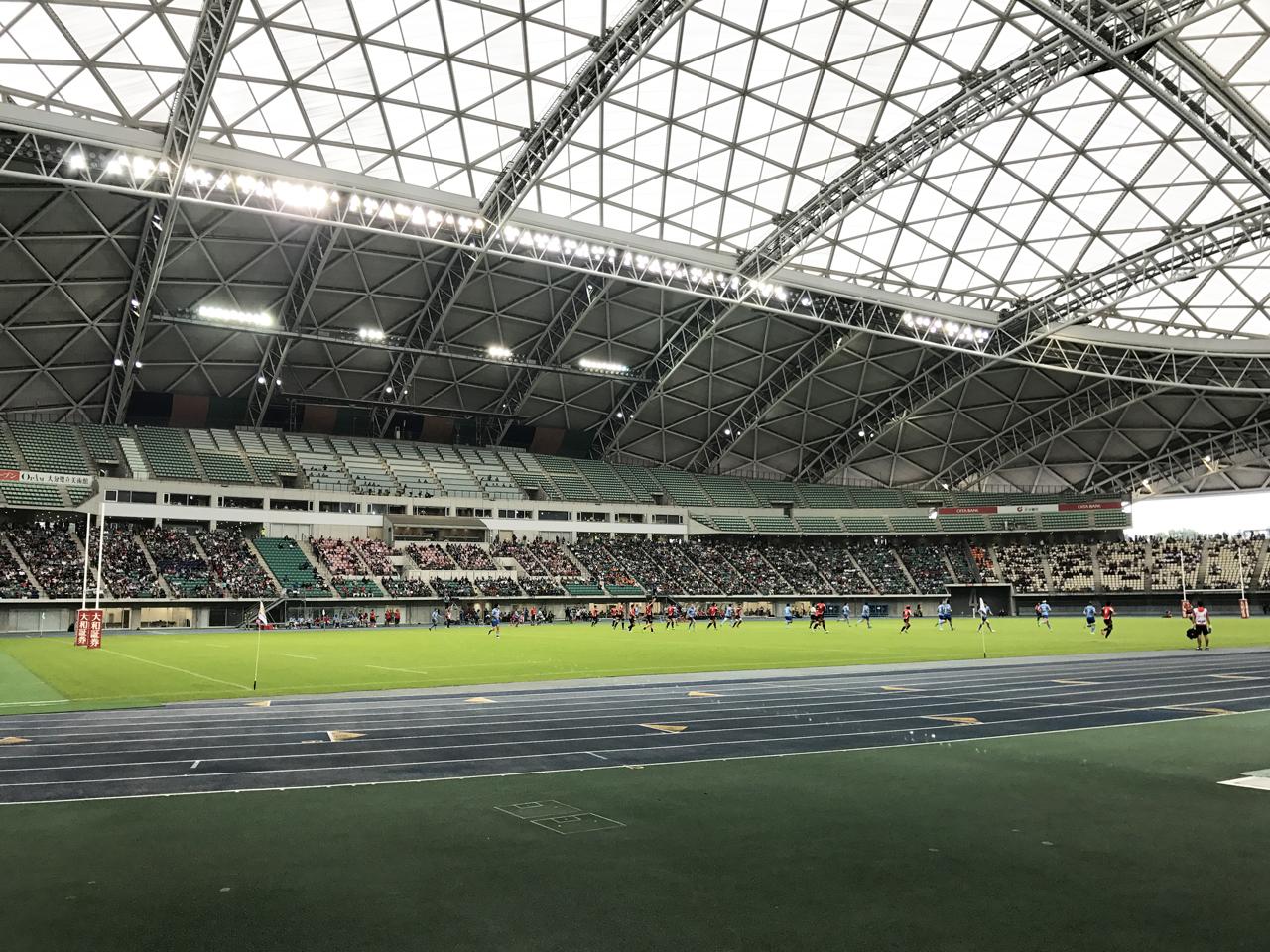 ラグビートップリーグ第7節(キヤノンvs神戸製鋼)