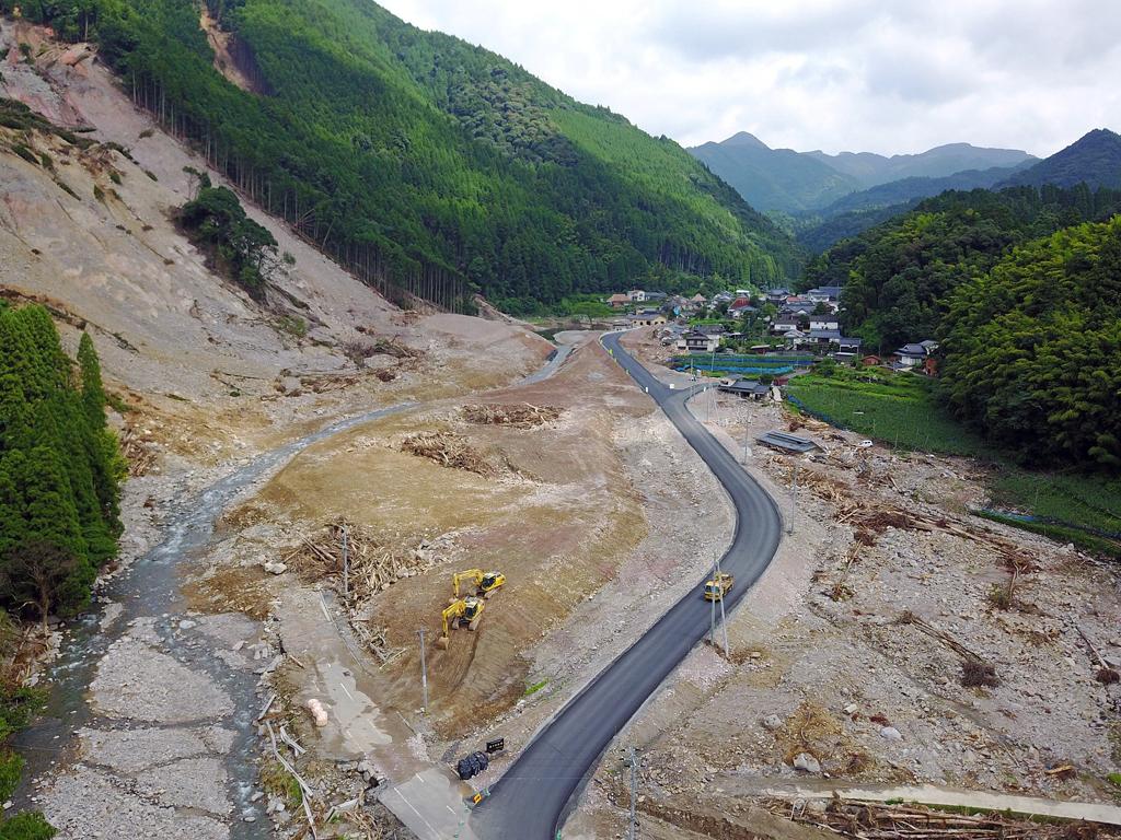 小野地区 仮設道路が開通