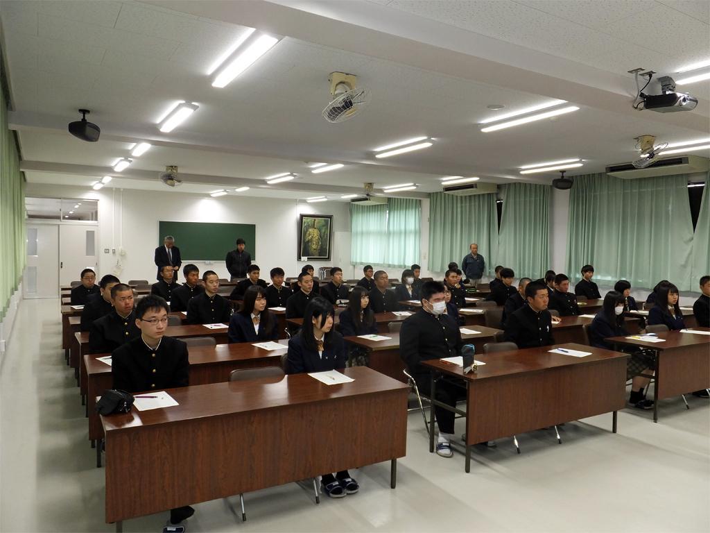 日田林工高校にて社長が講演