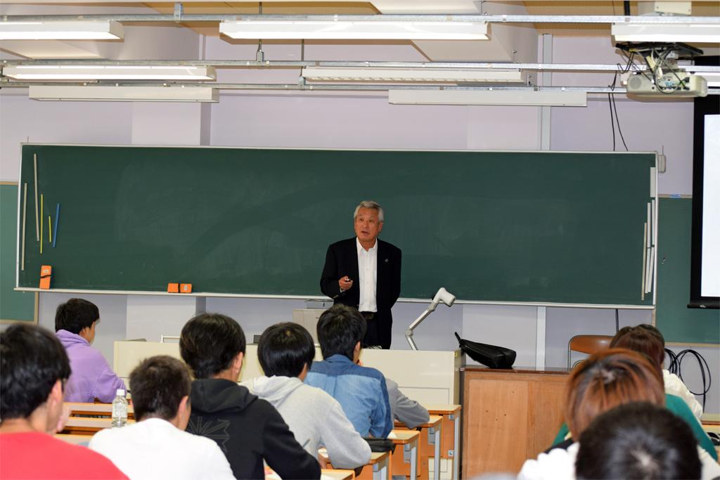 日本文理大学で講演会