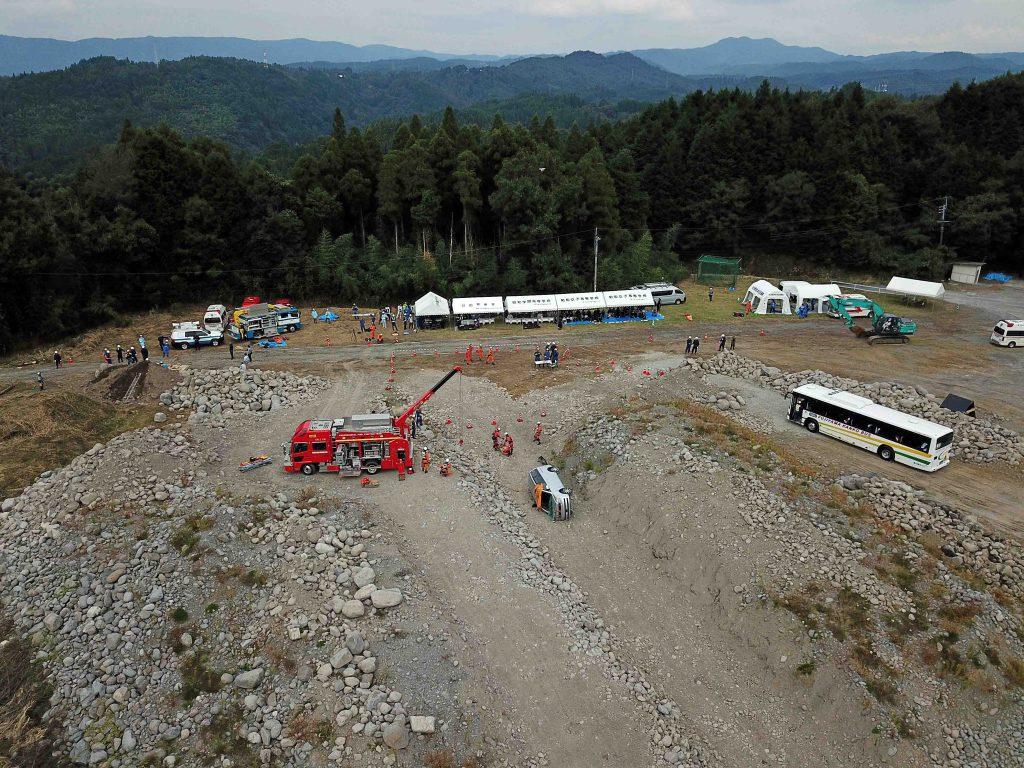 日田地区災害救助連携訓練