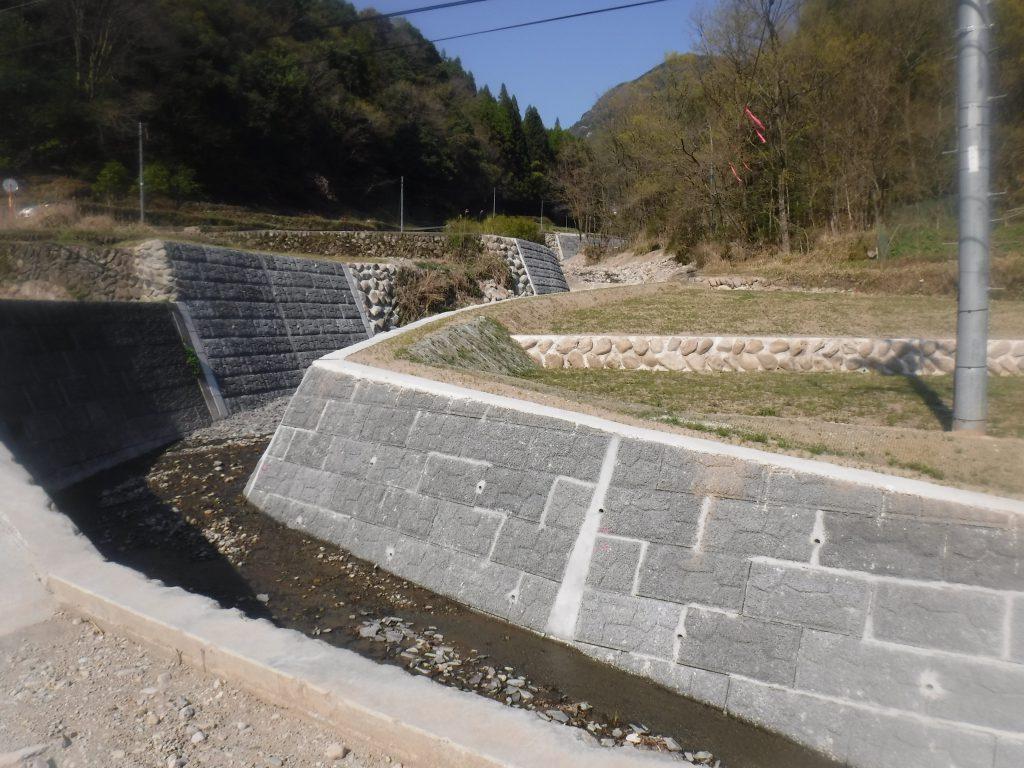 松山川災害復旧工事 完成