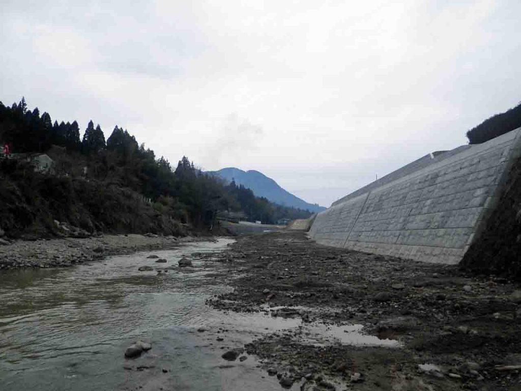 大肥川災害復旧等関連緊急工事 完成