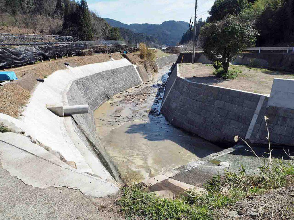 鰐川災害復旧工事 完成