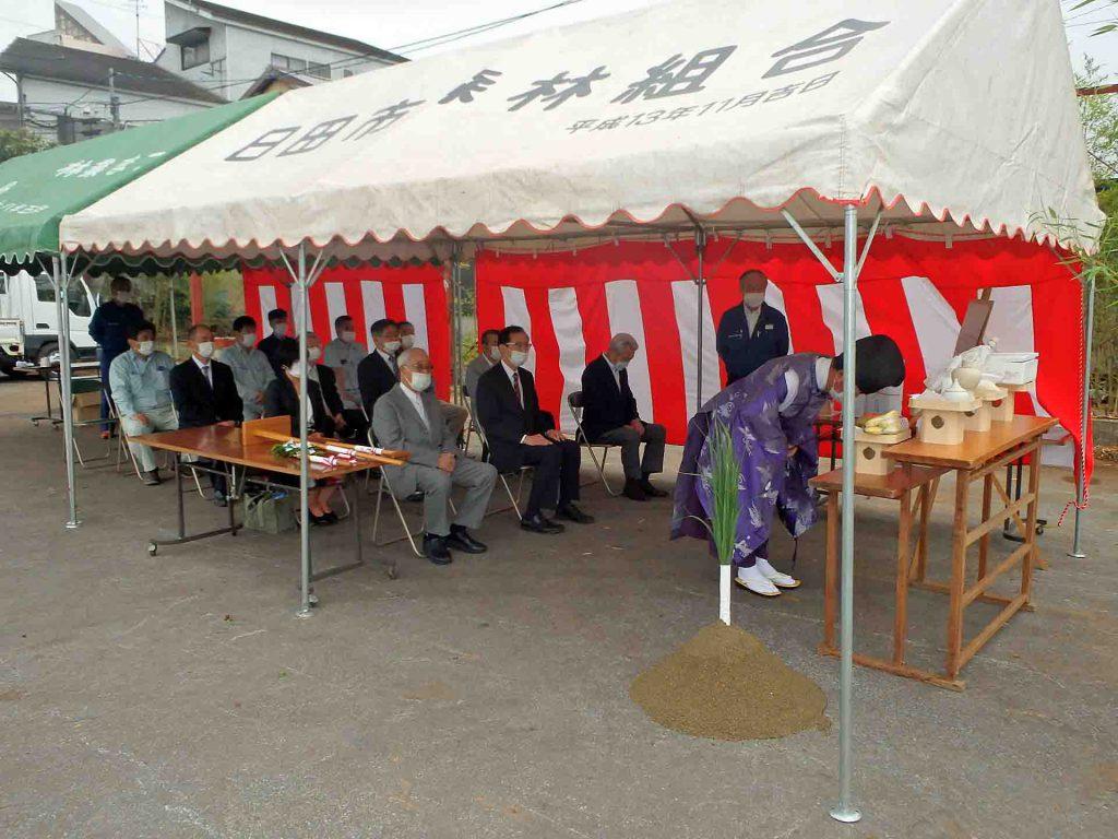 日田市森林組合新築工事 地鎮祭