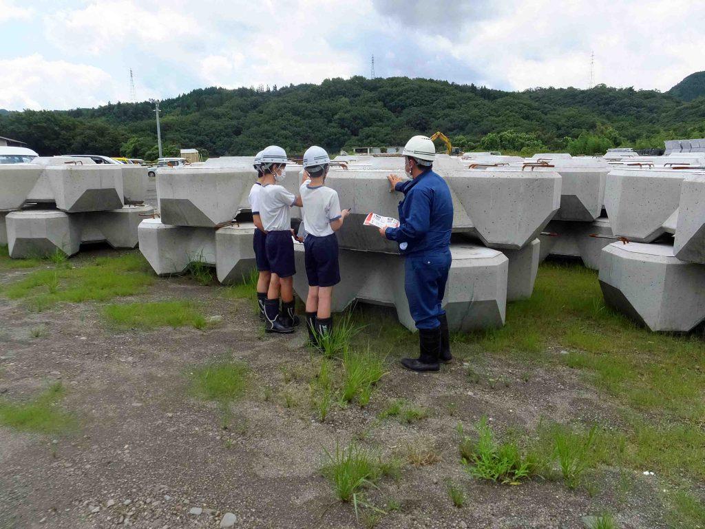 津江中学校 職場体験学習